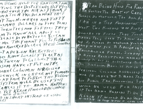 Ransom Note Similarities